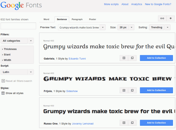 google fonts typography tools