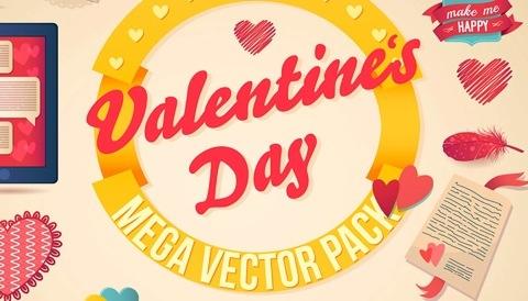 Freebie: Valentine's vector pack