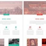 20 Clean & Modern Free Web Layout PSDs