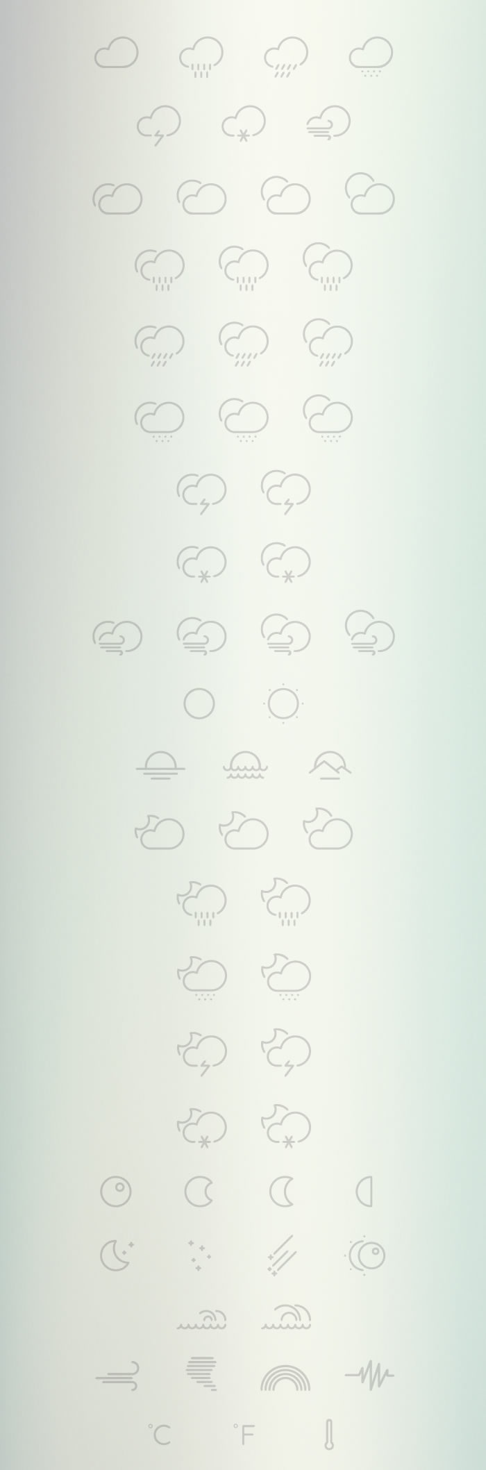 Freebie: The Outlined Weather Icons Collection