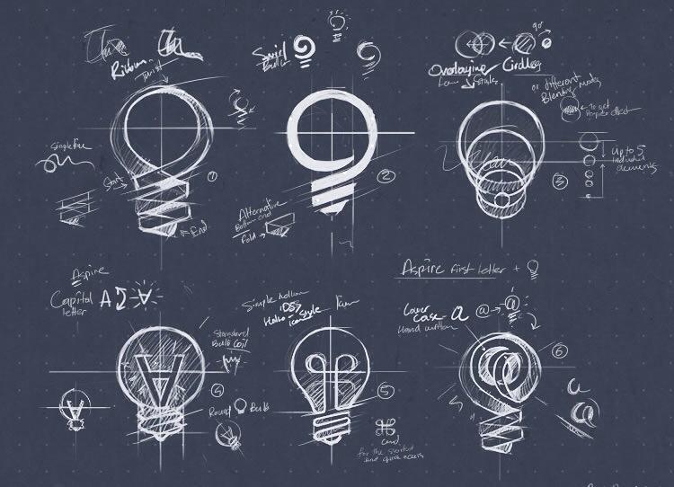 Inspiring Examples of Logo Sketching