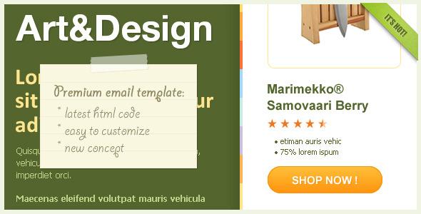 Art&Design Effective Newsletter Template