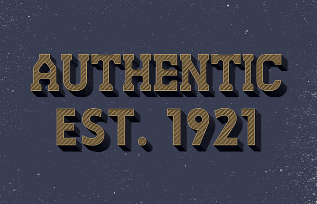 Authentic Text Effect
