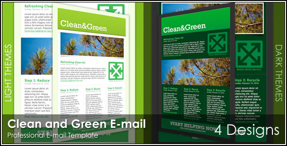 Clean and Green Effective Newsletter Template