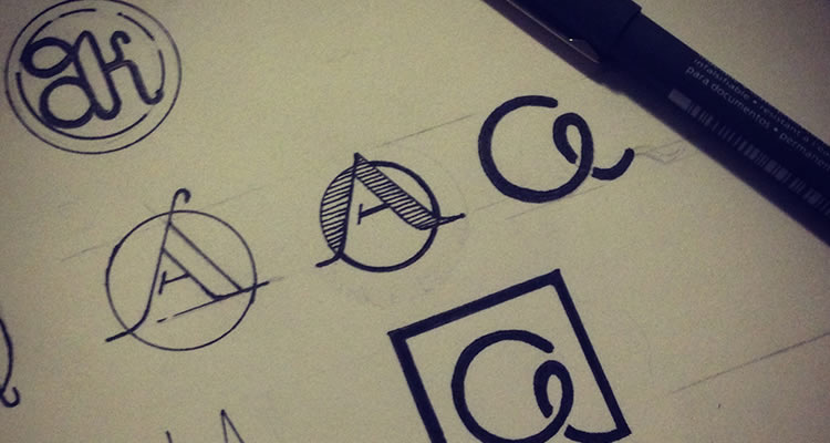 Personal Branding Exploration logo design sketch process branding