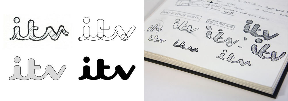 ITV Logo Creation logo design sketch process branding