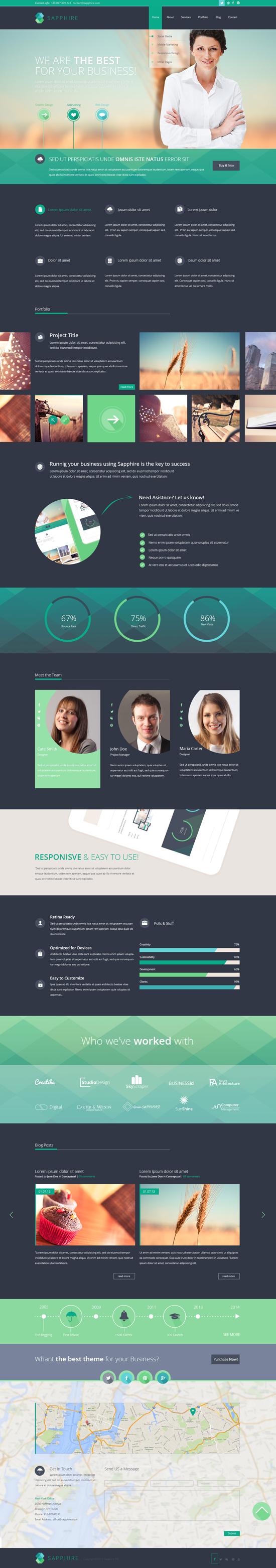 SAPPHIRE - Multipurpose Business PSD Template