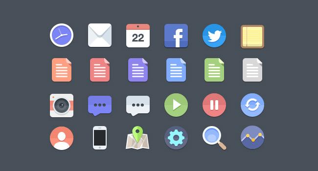24 Flat Icons