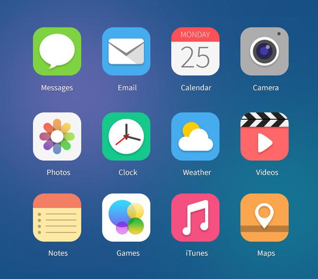 12 iOS7 Icon Concepts Vol.1