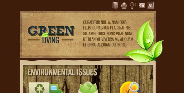 Green Environment Effective Newsletter Template