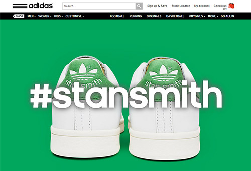 Engaging Website Inspiration - Adidas