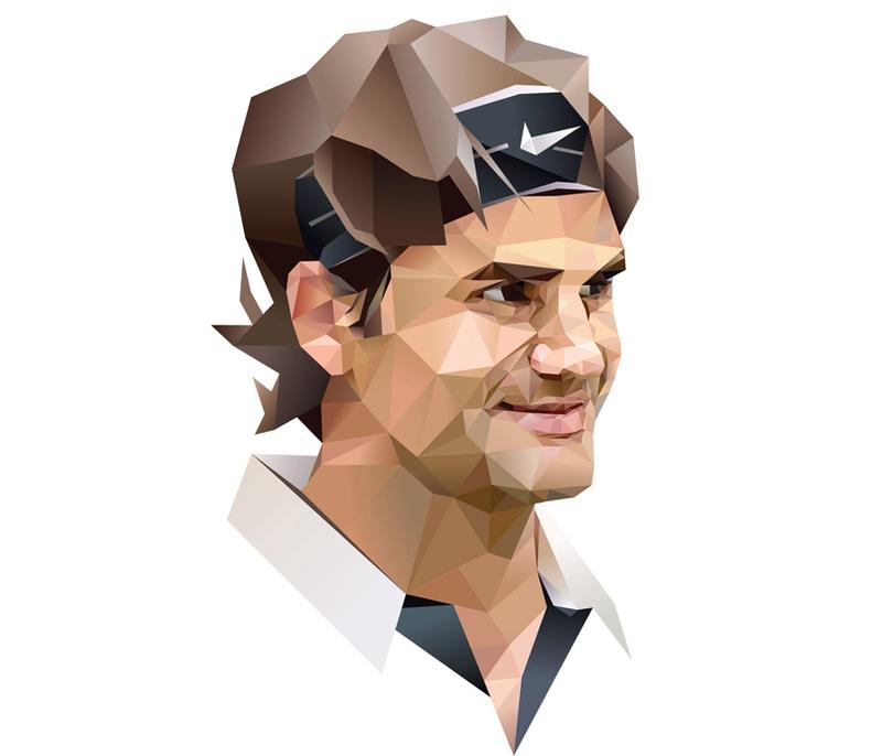 Portrait of Roger Federer
