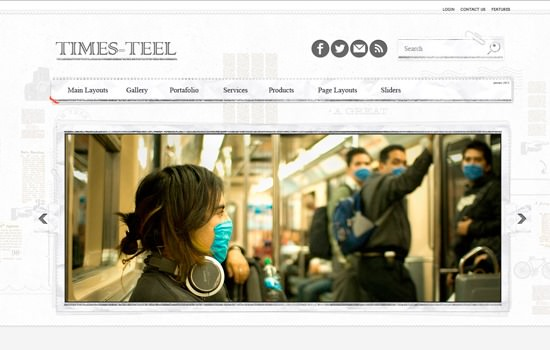 Times-teel WP theme