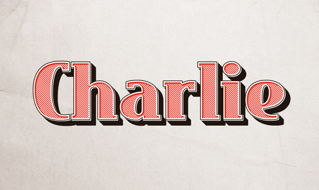 Charlie Text Effect