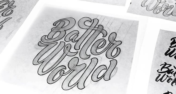 Batter World by fuentoovehuna logo sketching design process branding