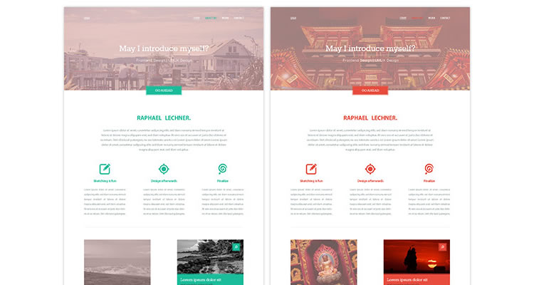 20 clean modern free web layout psds idevie for Architecture site web