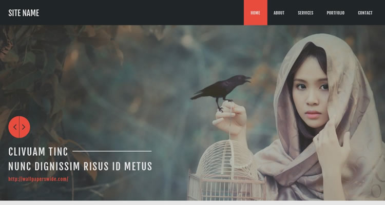 Bootstrap-Based modern clean web template psd free