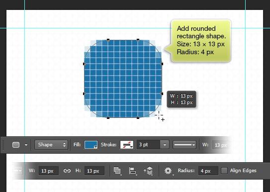 Rounded rectangle shape