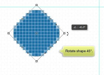 Rotate shape 45°
