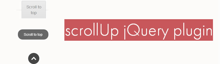 ScrollUp jquery plugins javascript Bitconfig