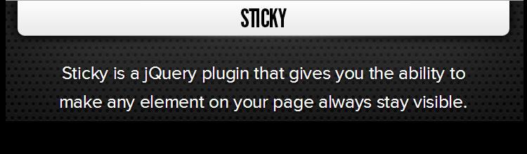 Sticky jquery plugins javascript Bitconfig