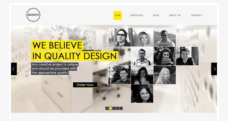 SKOKOV Includes 8 modern clean web template psd free