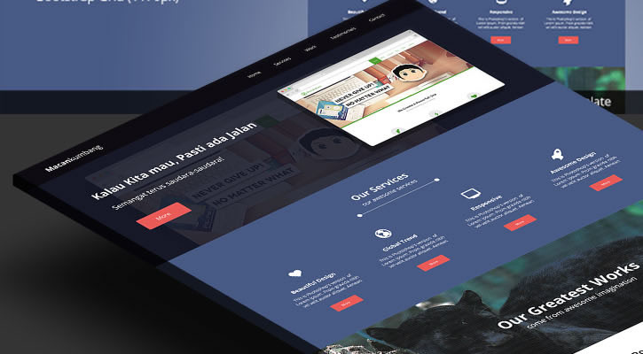 Macankumbang Single Page modern clean web template psd free