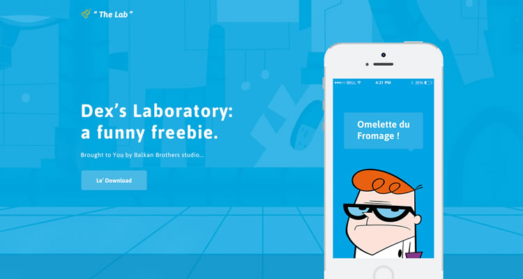 Dexters The Lab modern clean web template psd free
