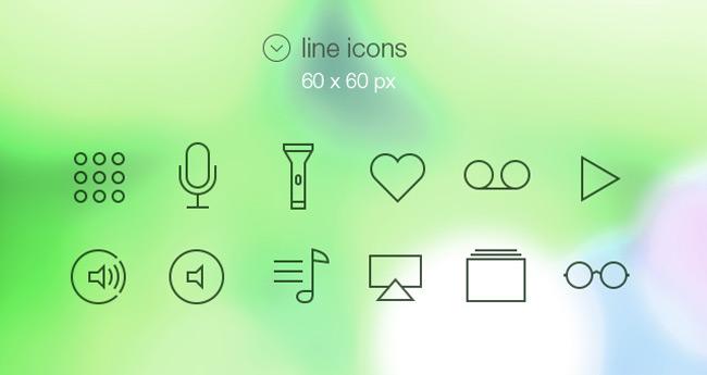Tab Bar Icons iOS 7 Vol2 | Media Icons