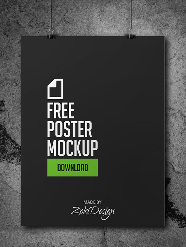 Movie poster title psd free download