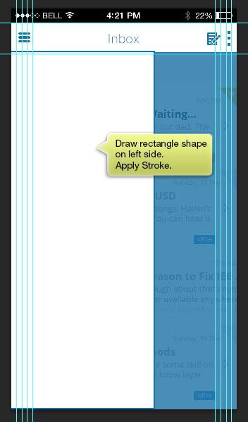 add rectangle shape on left side