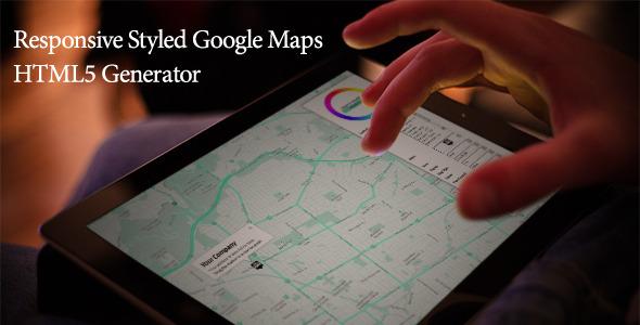Responsive Styled Google Maps Generator