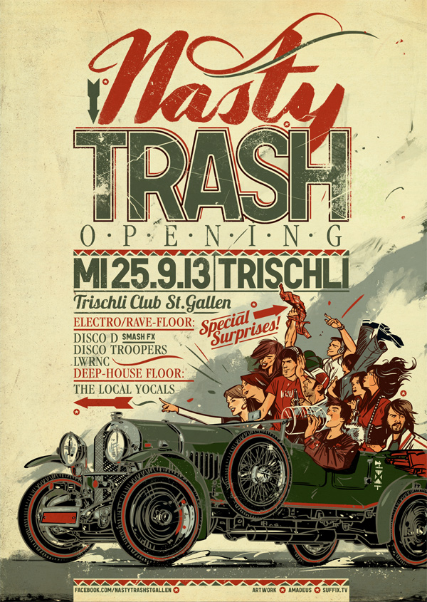 45 nastytrashsgweb021 45 Creative Gig Poster Designs