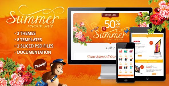 Summer Season Sale Effective Newsletter Template