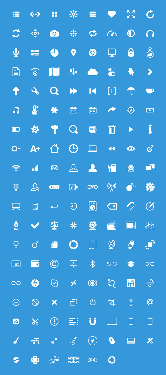 Glyphs: Free PSD Icons