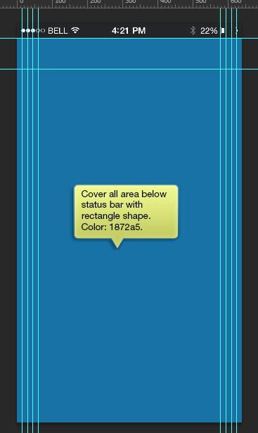 cover all area below status bar
