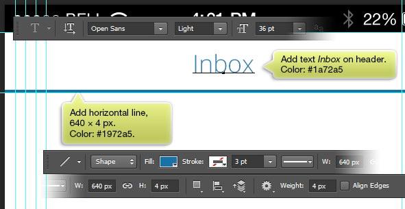 header for inbox