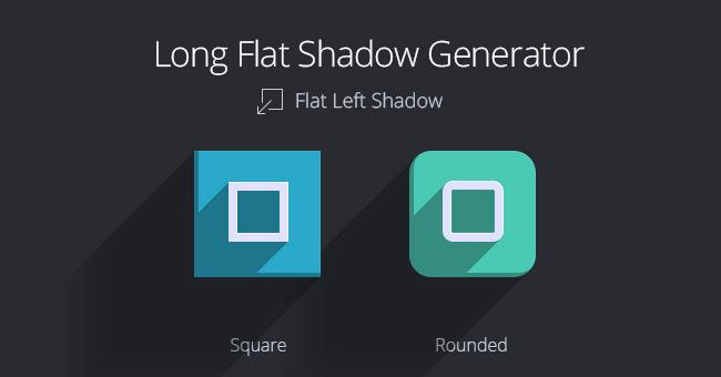 Long Flat Shadow Generator Psd