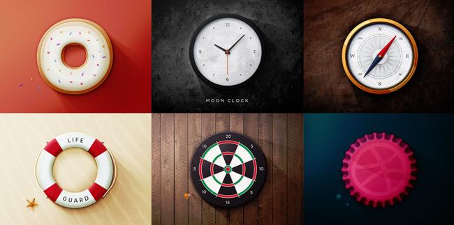6 Round Icons