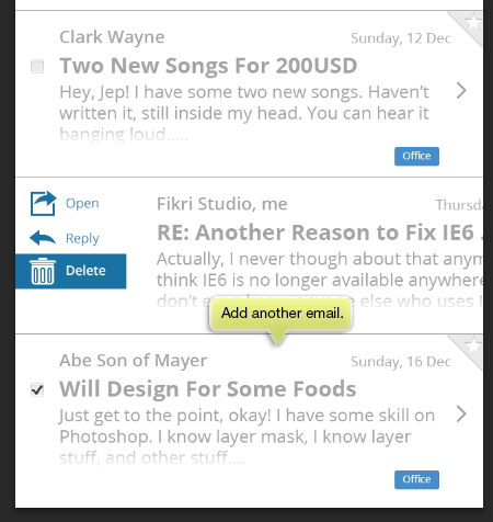 add more email