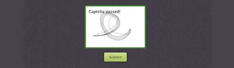 Motion Captcha jquery plugins javascript Bitconfig
