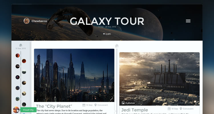 Trip Journal App mobile modern clean web template psd free