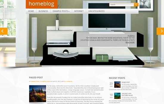 Homeblog WP theme
