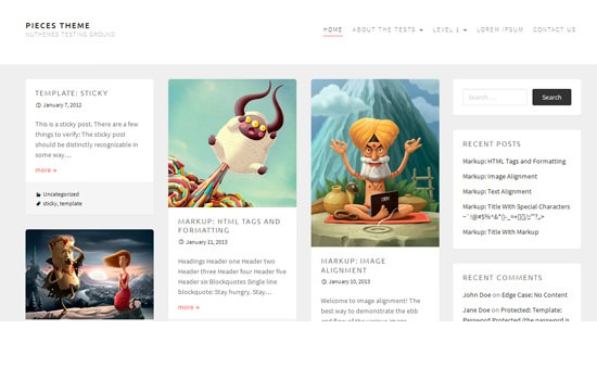 Pieces WP theme