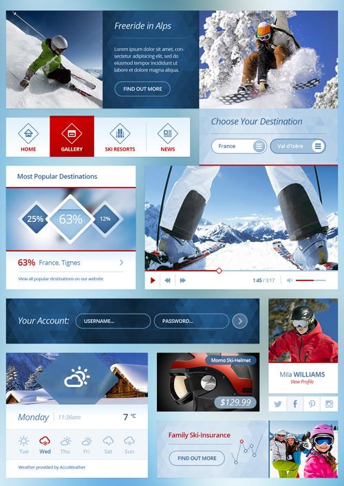 UI Kit (Ski)