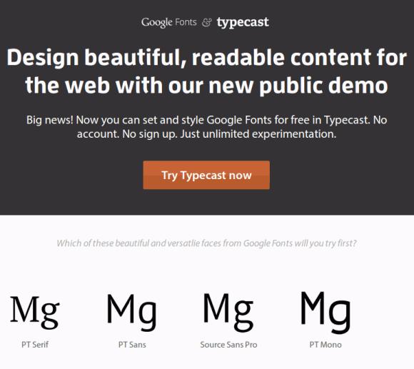 google fonts typecast typography tools