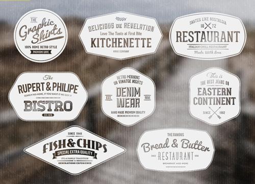 Vintage Labels / Retro Insignias