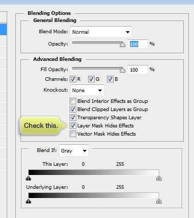 layer mask hides effects