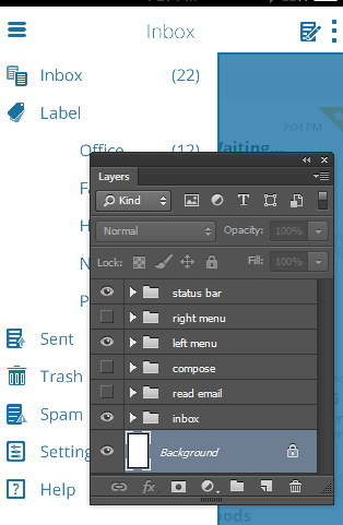 layer for right menu