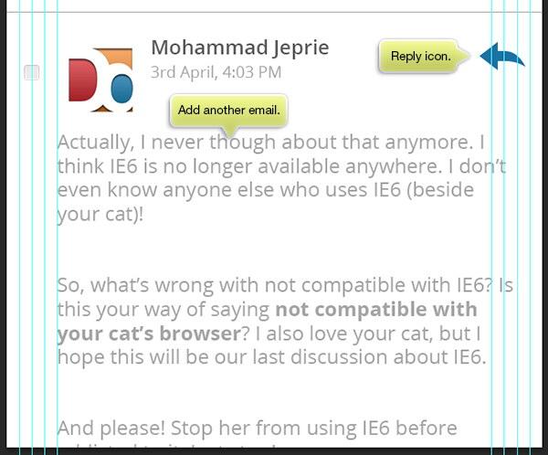 add reply icon